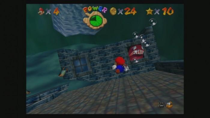 Mario geht baden