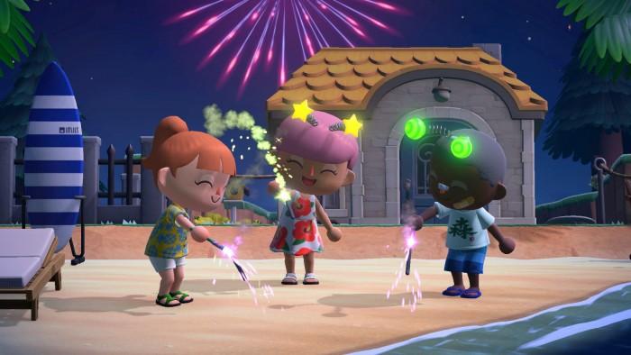 Screenshot aus dem zweiten Sommer-Update von Animal Crossing: New Horizons