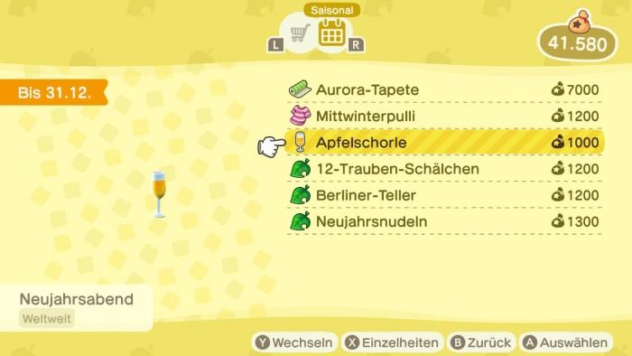 Animal Crossing: New Horizons – Apfelschorle