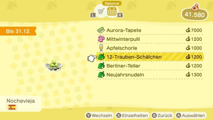 Animal Crossing: New Horizons – 12-Trauben-Schälchen