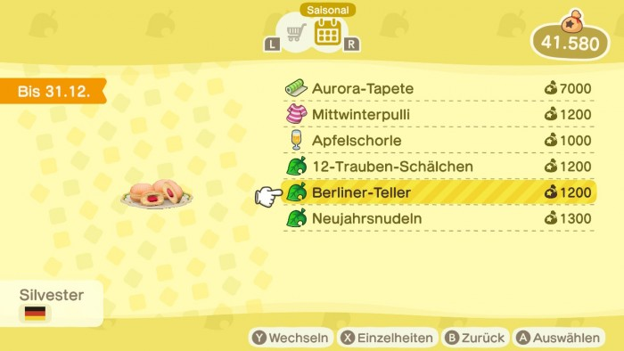Animal Crossing: New Horizons – Berliner Teller