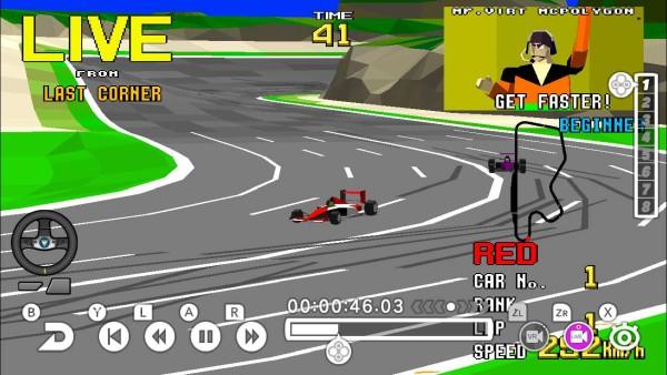 Screenshot aus SEGA Ages: Virtua Racer