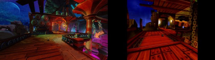 Neue Screenshots zeigen den Streckenvergleich zwischen Crash Team Racing Nitro-Fueled und Crash Team Racing