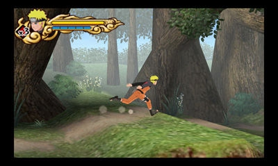 Naruto rennt durch einen Wald