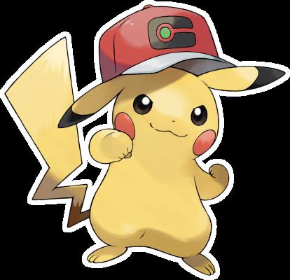 Artwork zu Ashs Pikachu aus Pokémon Schwert und Schild