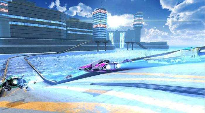 Blaue Racing-Action