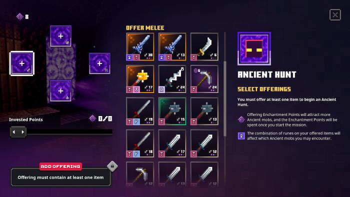 """Minecraft Dungeons – Screenshot der """"Ancient Hunts"""""""