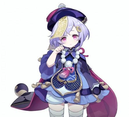 Charakter-Artwork von Qiqi aus Genshin Impact