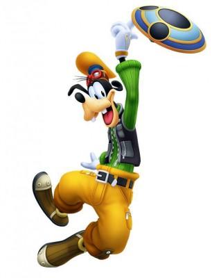 Charakter-Renderer von Goofy aus Kingdom Hearts: Melody of Memory