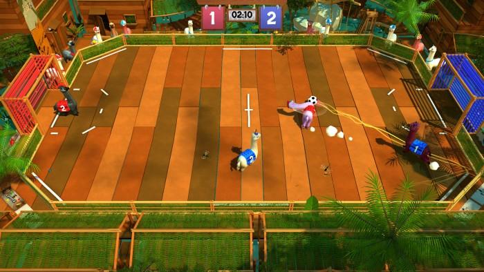 Screenshot aus Alpaca Ball: Allstars © Salt Castle Studio