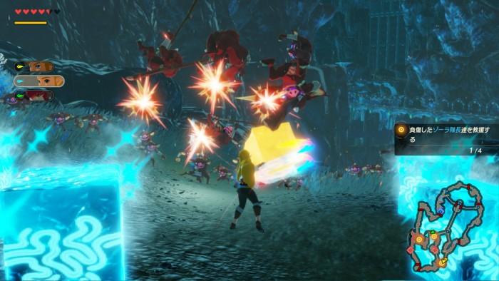 Japanischer Screenshot von Hyrule Warriors: Zeit der Verheerung