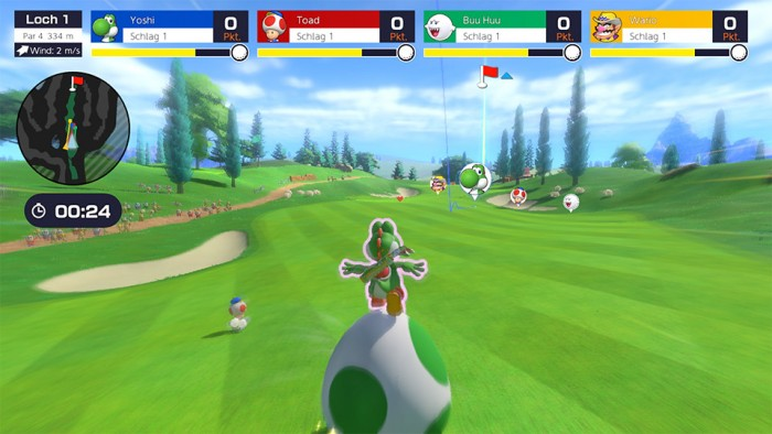 Screenshot zu Mario Golf: Super Rush