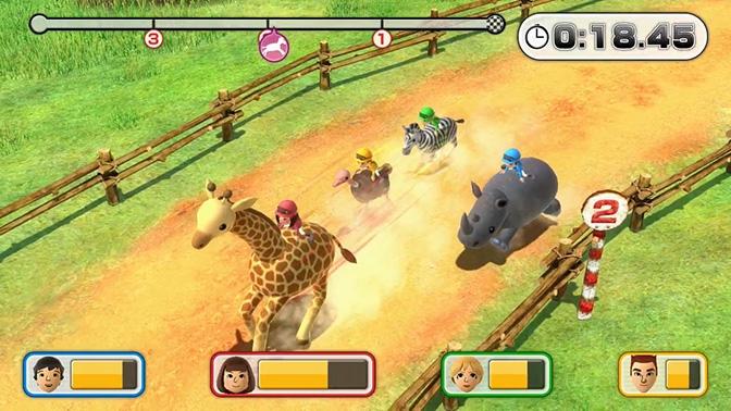 Auf einer Giraffe reiten!