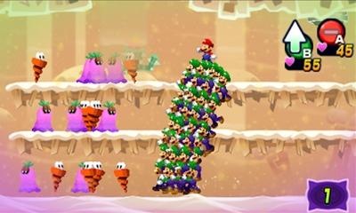 Eine Wand aus Luigis