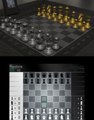 Grau/Gold Schach