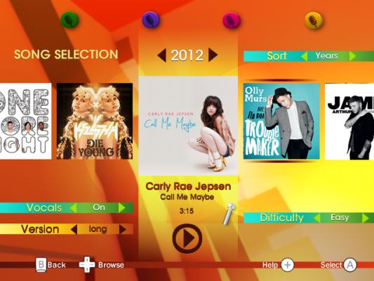 Die Song-Auswahl