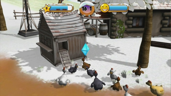 Auch im Winter brauchen die Hühner Futter
