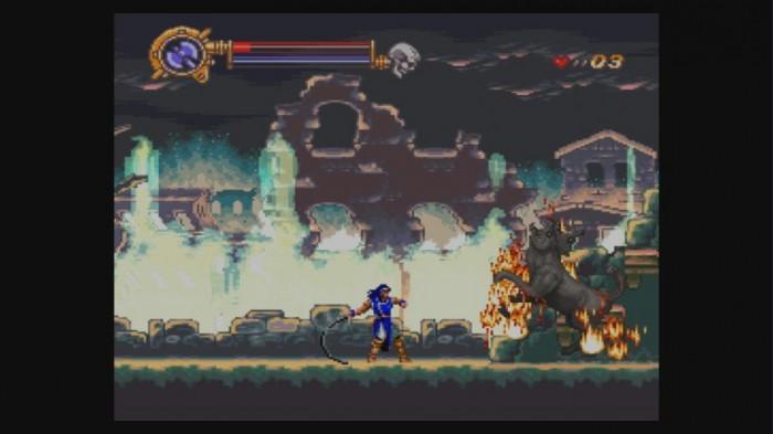 Gegner fängt Feuer