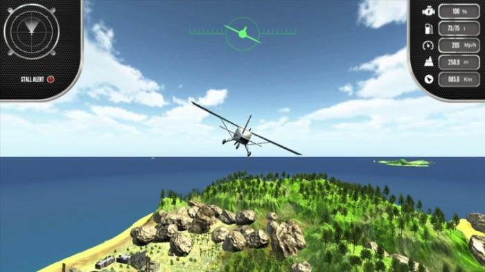 Über die Insel fliegen