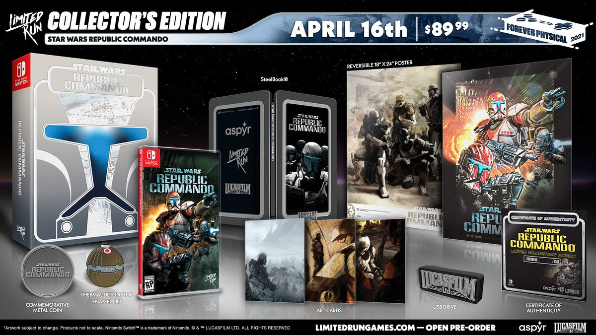 <div>Möge die Handelsversion mit Euch sein – Limited Run Games produziert Collector's Edition zu Star Wars: Republic Commando</div>