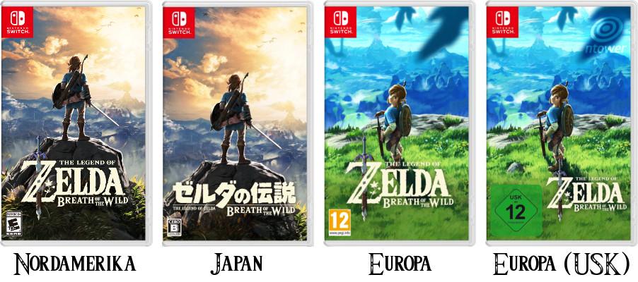 Die Cover Im Vergleich Europa Erhalt Anderes The Legend Of Zelda
