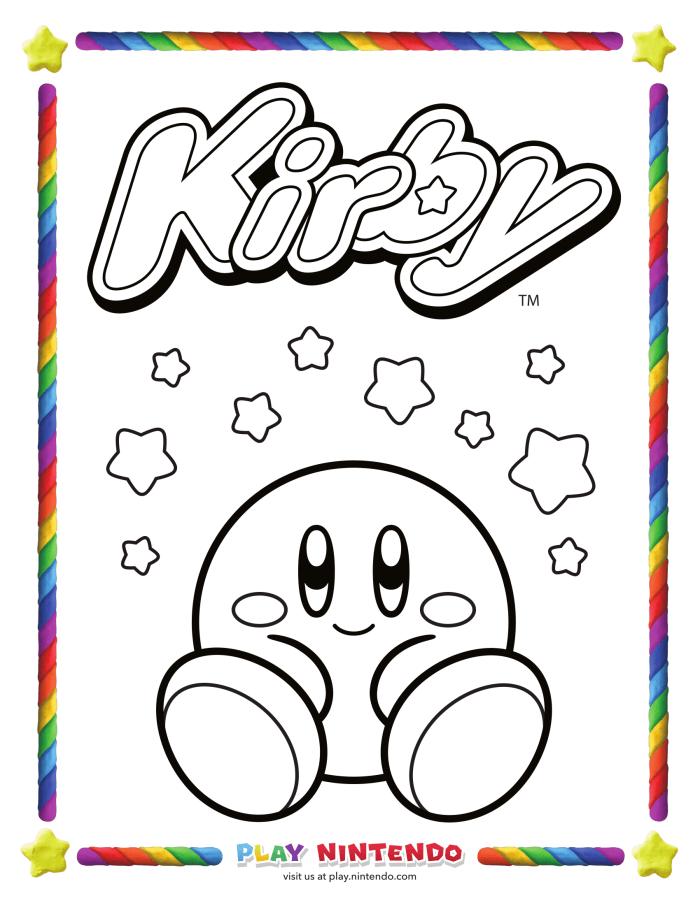 Spitzt die rosa Buntstifte an: Nintendo veröffentlicht Ausmalbilder ...