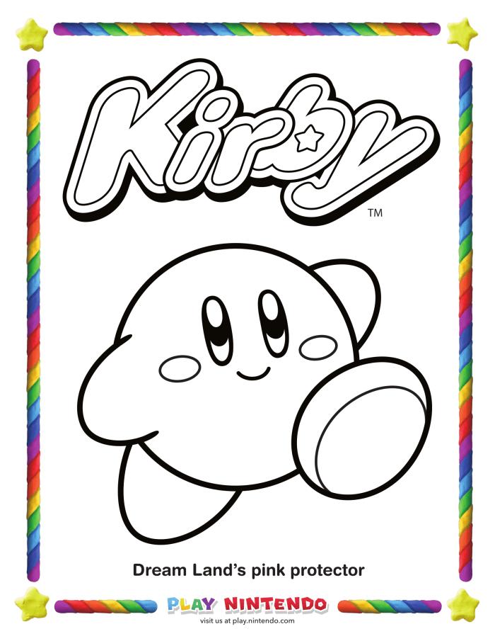 Spitzt Die Rosa Buntstifte An Nintendo Veröffentlicht Ausmalbilder