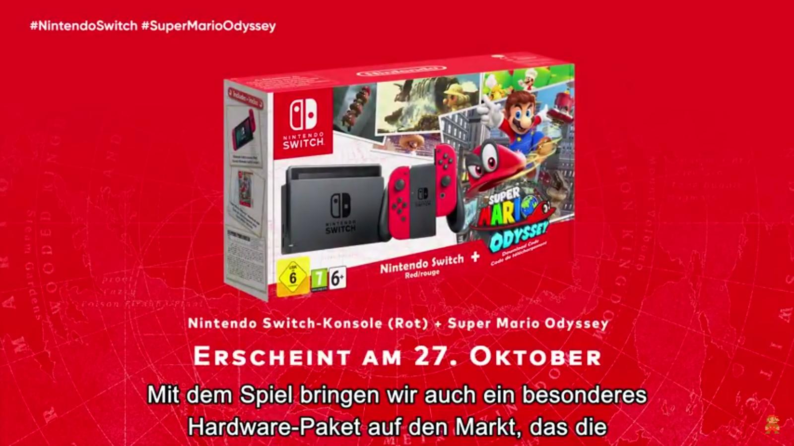 Nintendo Switch Bundle Zu Super Mario Odyssey Angekndigt Hardware Red Blue 2games 2amiibo Auch Eine Tasche Mit Schutzfolie In Der Edition Wird Zum Selben Zeitpunkt Erhltlich Sein