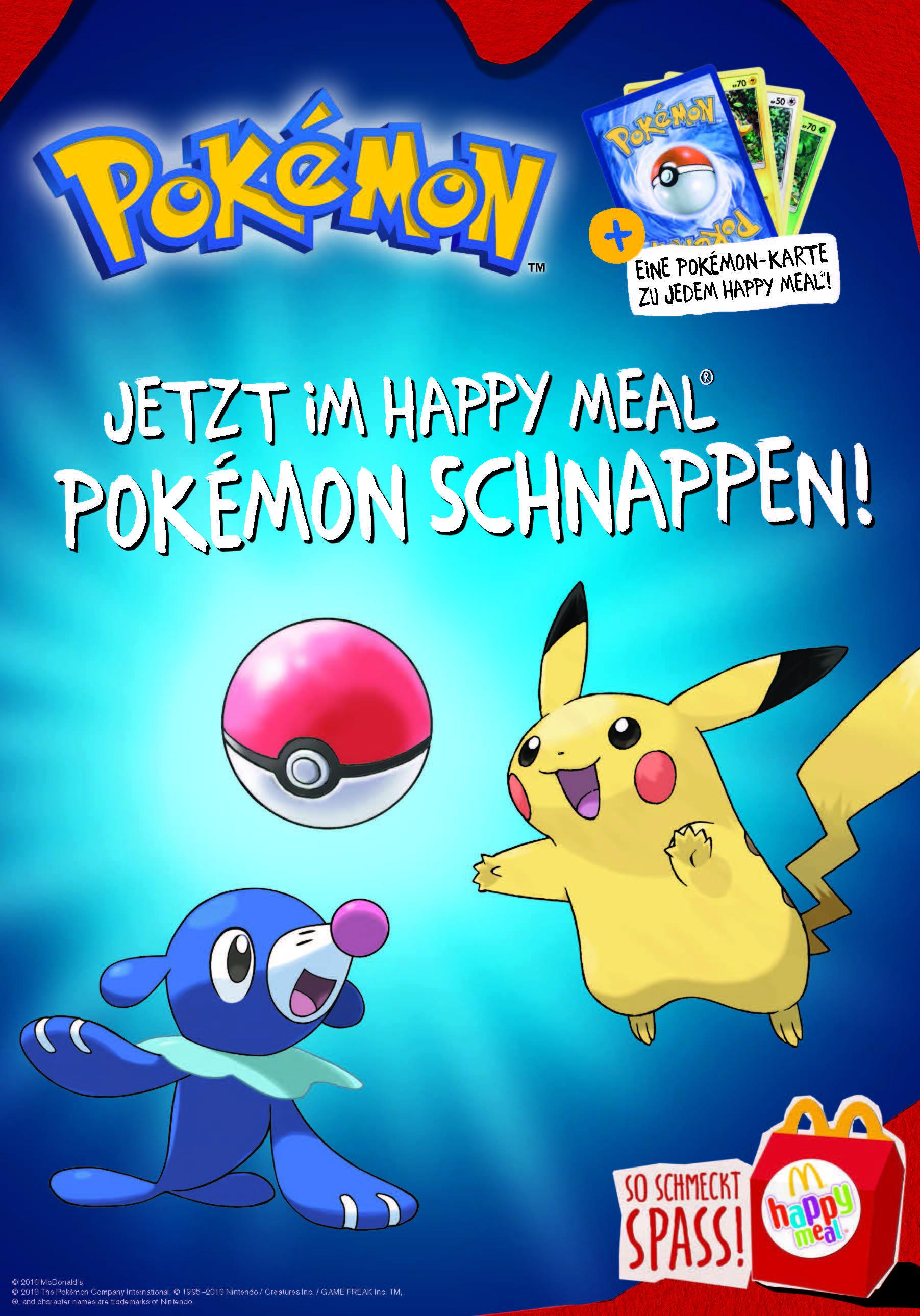 Diese Acht Pokémon Figuren Bietet Mcdonalds Beginnend Ab Nächster