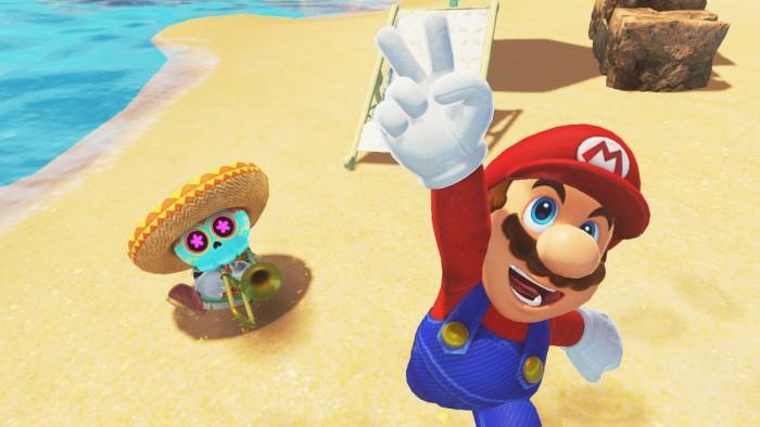 Screenshot zum VR-Update von Super Mario Odyssey