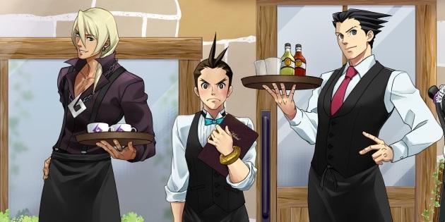 Newsbild zu Ohne meinen Anwalt gehe ich nicht essen: Neues Ace Attorney-Artwork bewirbt Capcom Café in Japan
