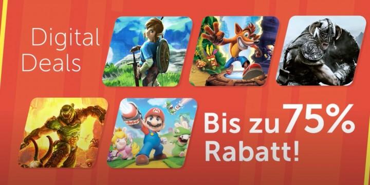Newsbild zu Spart im Nintendo eShop bis zu 75 Prozent mit den Digital Deals
