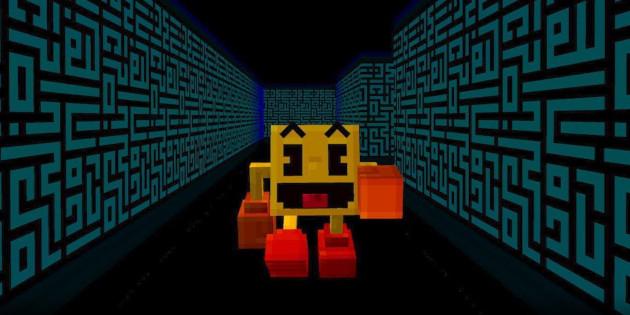 Newsbild zu Zum 40. Jubiläum: PAC-MAN landet im Minecraft-Universum