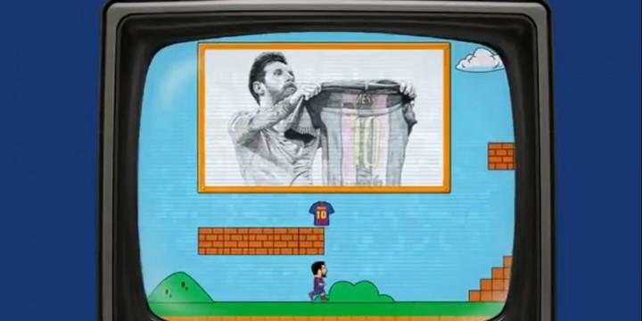 Newsbild zu Super Leo: Lionel Messi wird im Super Mario-Stil vom FC Barcelona verabschiedet und von der französischen Liga begrüßt