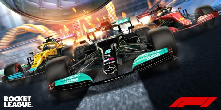 Newsbild zu Das Formula 1 Fan Pack sorgt ab sofort in Rocket League für heiße Reifen