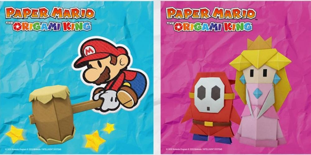 Paper Mario: The Origami King Logos
