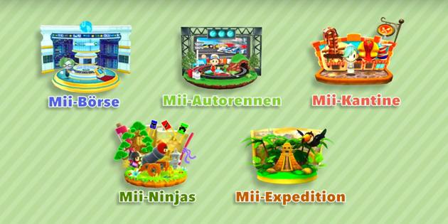 Newsbild zu Fünf neue StreetPass-Mii-Lobby-Spiele können ab sofort heruntergeladen werden