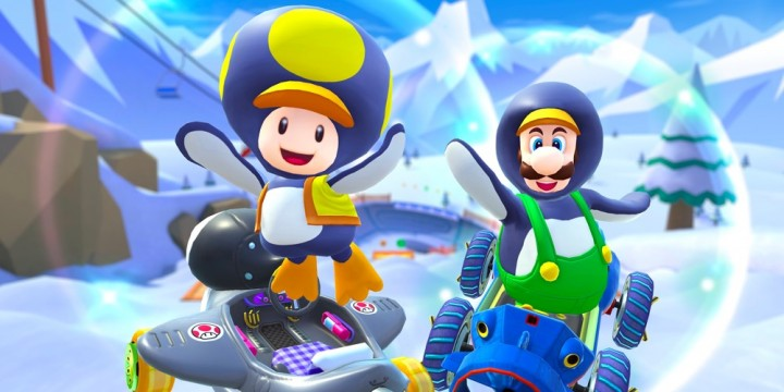 Newsbild zu Neuheiten für Mario Kart Tour ab sofort im Rahmen der Schnee-Tour-Saison verfügbar