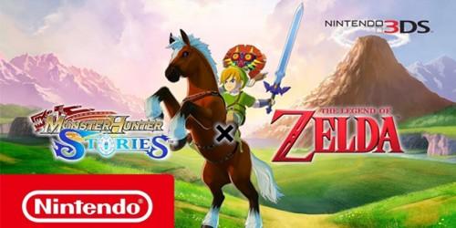 Newsbild zu Schaut euch jetzt Gameplay-Material zum Zelda-DLC für Monster Hunter Stories an