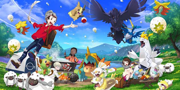 Newsbild zu Vergleichbar mit den Arealen aus Zelda: Breath of the Wild – The Pokémon Company enthüllt Größe der Naturzone aus Pokémon Schwert und Schild