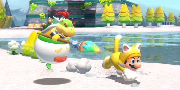 Newsbild zu Amerikanischer Händler schenkt Käufern von Super Mario 3D World + Bowser's Fury eine Katzen-Mario-Wasserflasche