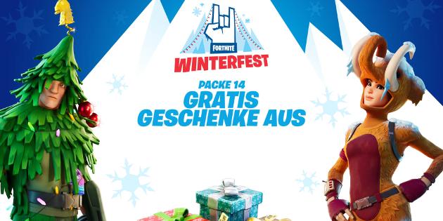 Newsbild zu Fortnite: Das Winterfest 2019 hat begonnen und lockt mit kostenlosen Geschenken