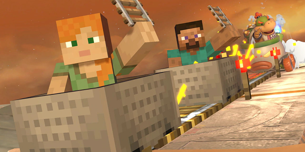 Super Smash Bros. Ultimate - Steve und Alex