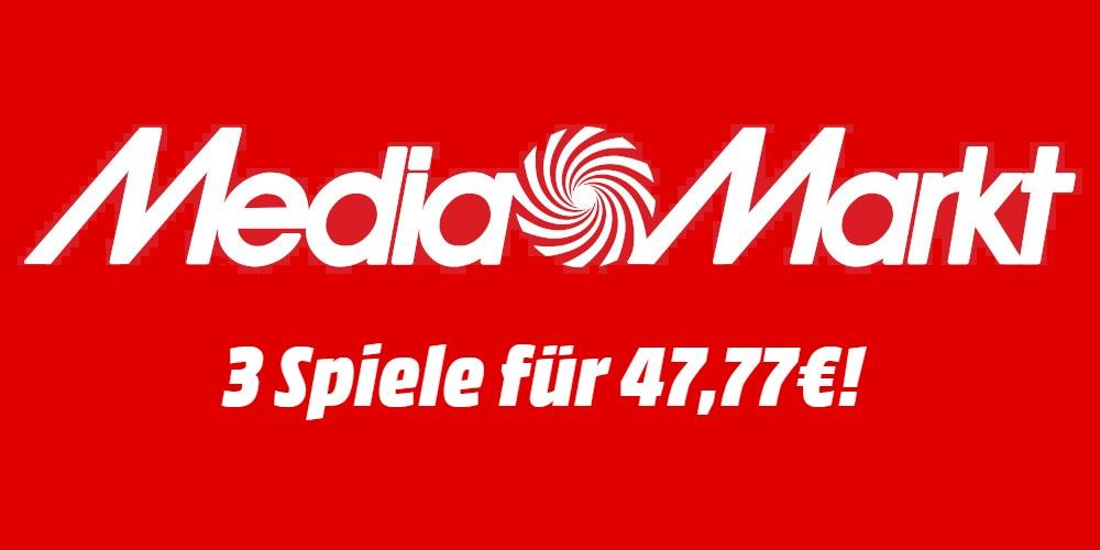 Media Markt Aktion: 3für47,77€