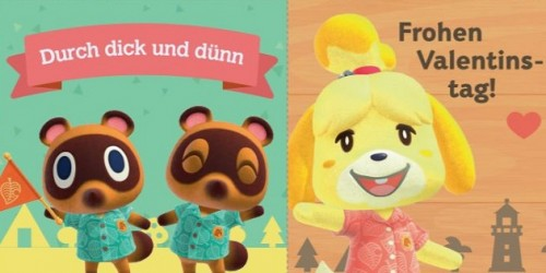 Newsbild zu Animal Crossing-Karten zum Ausdrucken – Nintendo teilt Grußbotschaften und Videoclips anlässlich des Valentinstags
