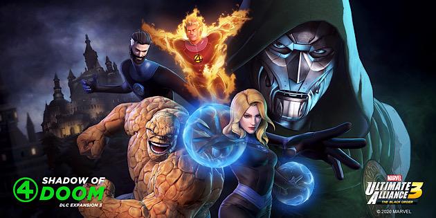 """Newsbild zu Marvel Ultimate Alliance 3: The Black Order – Veröffentlichungstermin des dritten DLC-Pakets """"Fantastic Four: Shadow of Doom"""" enthüllt"""
