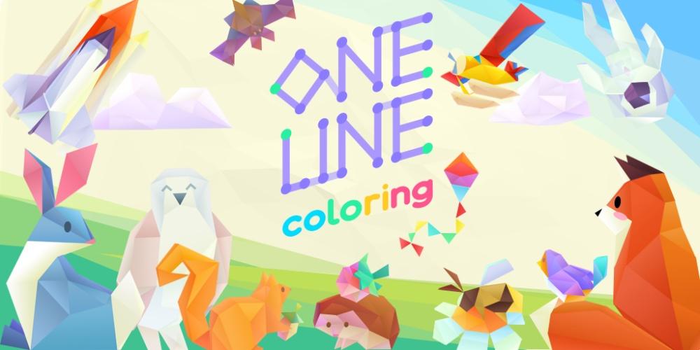 One Line Coloring - Keyart