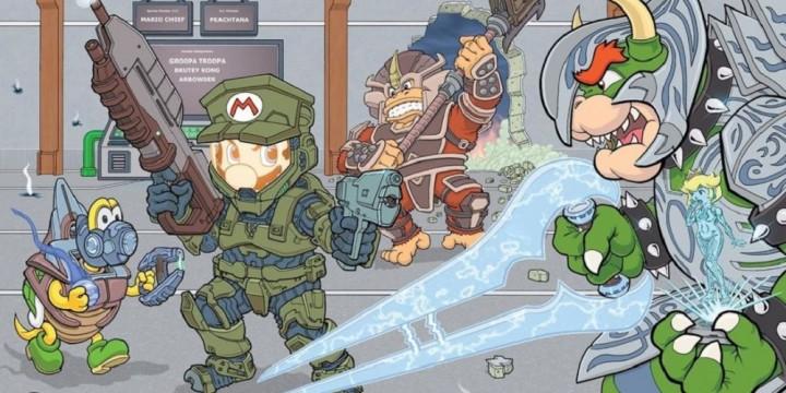 Newsbild zu Offizieller Halo-Account teilt Crossover-Bild mit Super Mario