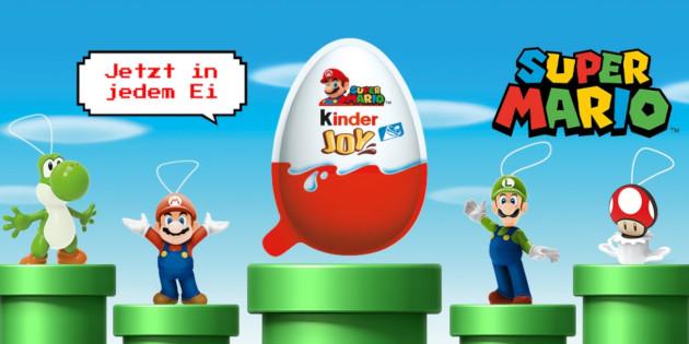 Newsbild zu In jedem 1. Ei – kinder Joy enthält Super Mario-Figuren
