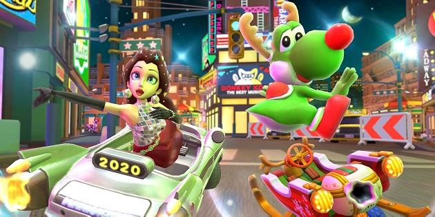 Newsbild zu Neuer Charakter in Mario Kart Tour angedeutet: Die letzte Tour des Jahres wird festlich